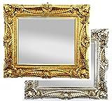 Antik Wandspiegel Gold 60x70 mit Facettenschliff - Handgefertigt - Barock Spiegel