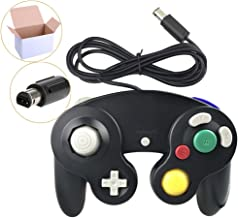 Poulep Wired Controller for Gamecube Game Cube, Classic NGC Gamepad Joystick for Wii Nintendo Console (Black)