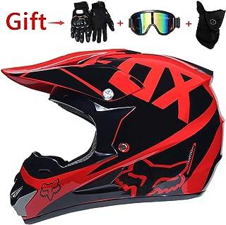 Carbon Fiber UV Protection Anti-fog Mask Fringe Scorpion Full Face Helmet Motocross Locomotive DOT Certified Helmet,L WWtoukui Cool Predator Motorcycle Helmet