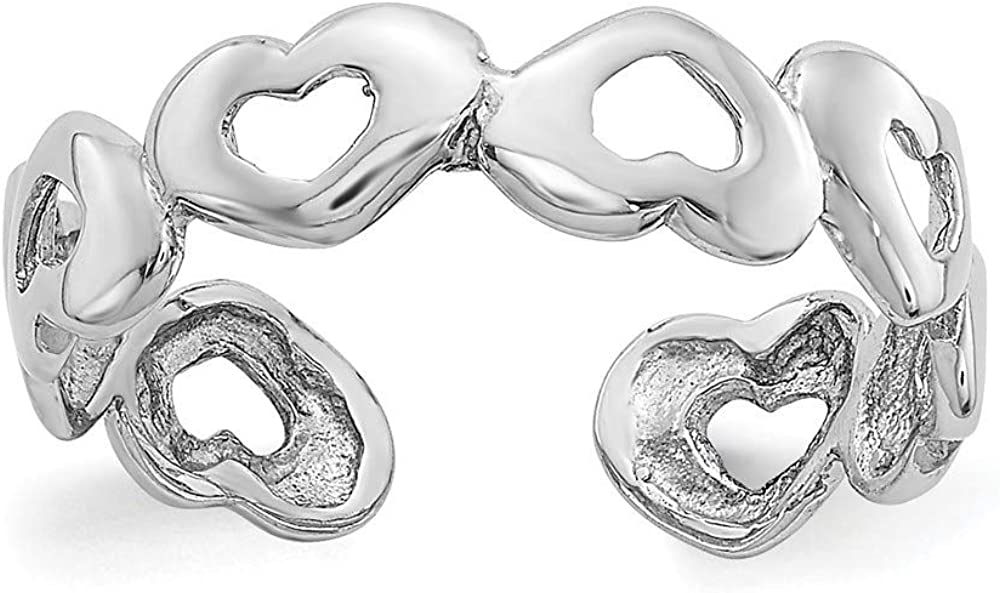 Roy Rose Jewelry 14K White Gold Heart Toe Ring