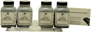 InkOwl Toner Refill Kit for Brother TN-630, TN-660 (4-Pack)
