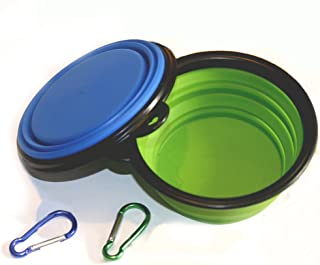 COMSUN Collapsible Dog Bowl, Foldable Expandable Cup Dish for Pet Cat Food Water Feeding..