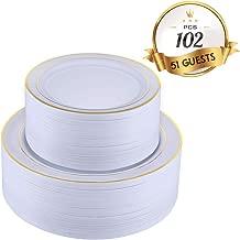 Best disposable plates gold trim Reviews