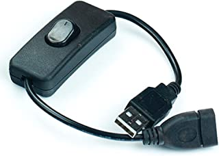 JBtek Male to Female USB Cable with ON/Off Switch - Easy Start/Reboot for Raspberry Pi & Arduino