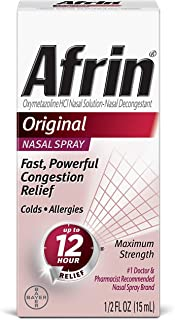 Afrin Nasal Spray 12 Hour Relief, Original, 0.5 fl oz (Pack of 3)
