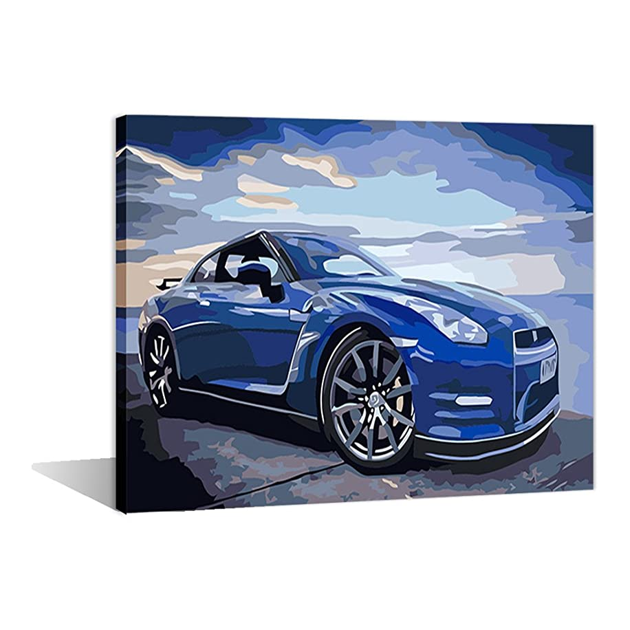 Paint by Numbers 16 x 20 inch Canvas Art Kits DIY Oil Painting for Kids/Students/Adults Beginner Wall Decorative Painting, Super Factories (Frameless)