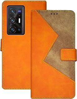 جراب محفظة OIATROE غطاء حامل لهاتف Vivo X70 Pro Plus - إغلاق مغناطيسي ، جراب جلد ملون مصنوع يدويًا لهاتف Vivo X70 Pro Plus...