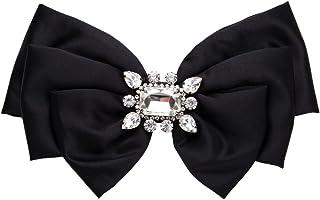 Yazilind Pre-Tied Brosche Vintage Kristall Pre Gebundenes Band Bogen Brosche Krawatte Prom Formale Hochzeit Party Zubehör