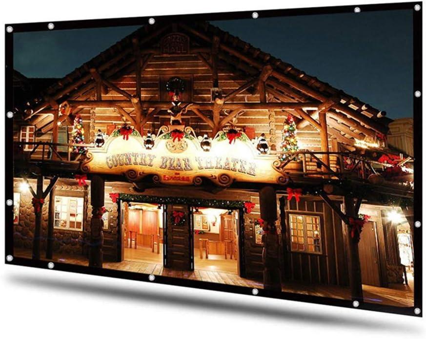 Department store TWDYC 100 120 inch Projector Screen White 16:9 Bargain sale Diagona Dacron HD