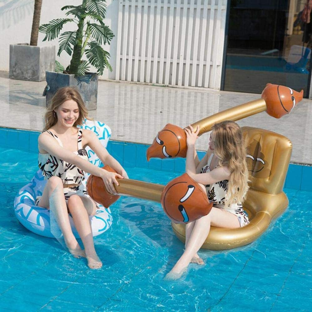 MSFX Inodoro De Cuatro Piezas-Dorado + Blanco Inflable Isla Flotante Creativo Gracioso Anillo De Natación Boya Niños Adultos Piscina De Flotación Verano Al Aire Libre Tapete De Playa Juguetes De Ocio