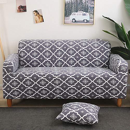 Fundas Sofas 3 y 2 Plazas Ajustables Color Claro Fundas Sofa Elasticas,Funda de Sofa Chaise Longue,Moderna Cubre Sofa,La Funda para Sofa Jacquard de Poliéster (145-185cm)