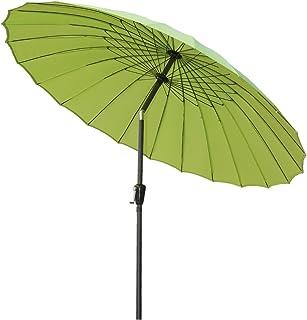 Angel Living 250 cm runt trädgårdsparaply aluminium med vev lutningsmekanism solskydd