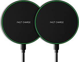 Wireless Charger, 2Pack Canjoy 10W Max Qi Certified Fast Wireless Charging Pad Compatible with iPhone 11/11 Pro/11 Pro Max/XS Max/XS/X/8, Galaxy Note 10/Note 10 Plus/S10/S10 Plus/S10E(No AC Adapter