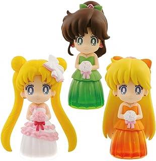 Banpresto - Figurine Sailor Moon - Set de 3 figurines Clear Colored Sparkle Dress Vol.2 Serenity  Venus  Jupiter 6cm - 3...