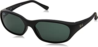 Ray-Ban Daddy-O gafas de sol en mate negro cristal verde RB2016 W2578 59