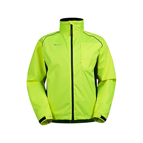 Mountain Warehouse Adrenaline Mens High Visibility Jacket - Breathable Mens  Coat 11217b3d7