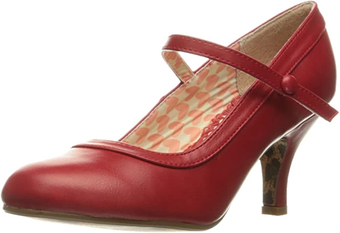 1950s Style Shoes   Heels, Flats, Boots Bettie Page Womens Bp320-Bettie Dress Pump  AT vintagedancer.com