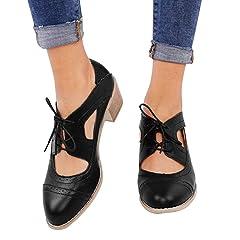 359af141df8 Athlefit Women s Cut Out Ankle Boots Breathable Vintage Oxfor .