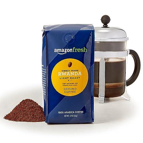 AmazonFresh Direct Trade Rwanda Ground Coffee, Light Roast, 12 Ounce (Pack of 3)