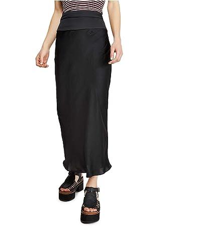 Free People Normani Bias Skirt (Black) Women