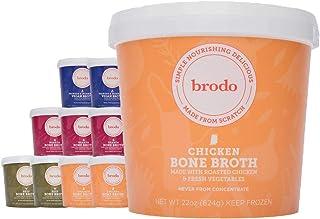 Bone Broth by Brodo Variety Pack (Chicken, Beef, Hearth, Veggie), 10 Pack, Keto Diet, Gluten Free, Paleo Friendly, Whole 3...