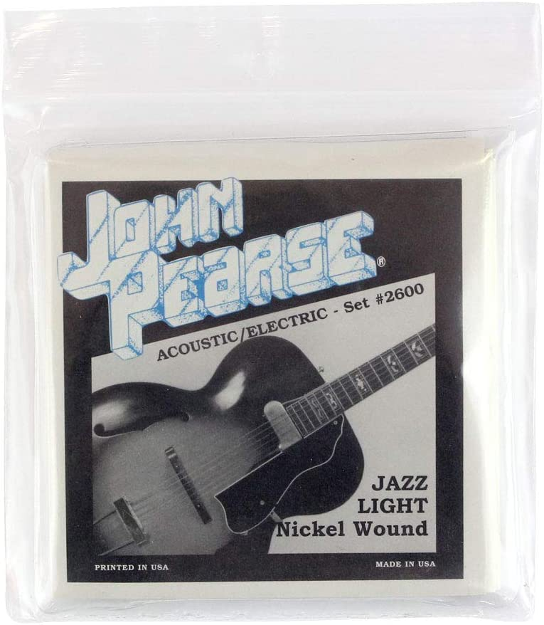 John Pearse Gorgeous Dealing full price reduction 2600 NICKEL WOUND ELECTRIC ACOUSTIC GUITAR JAZZ STRI