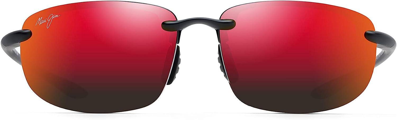Maui Jim Ho'okipa Asian Fit Rectangular Sunglasses