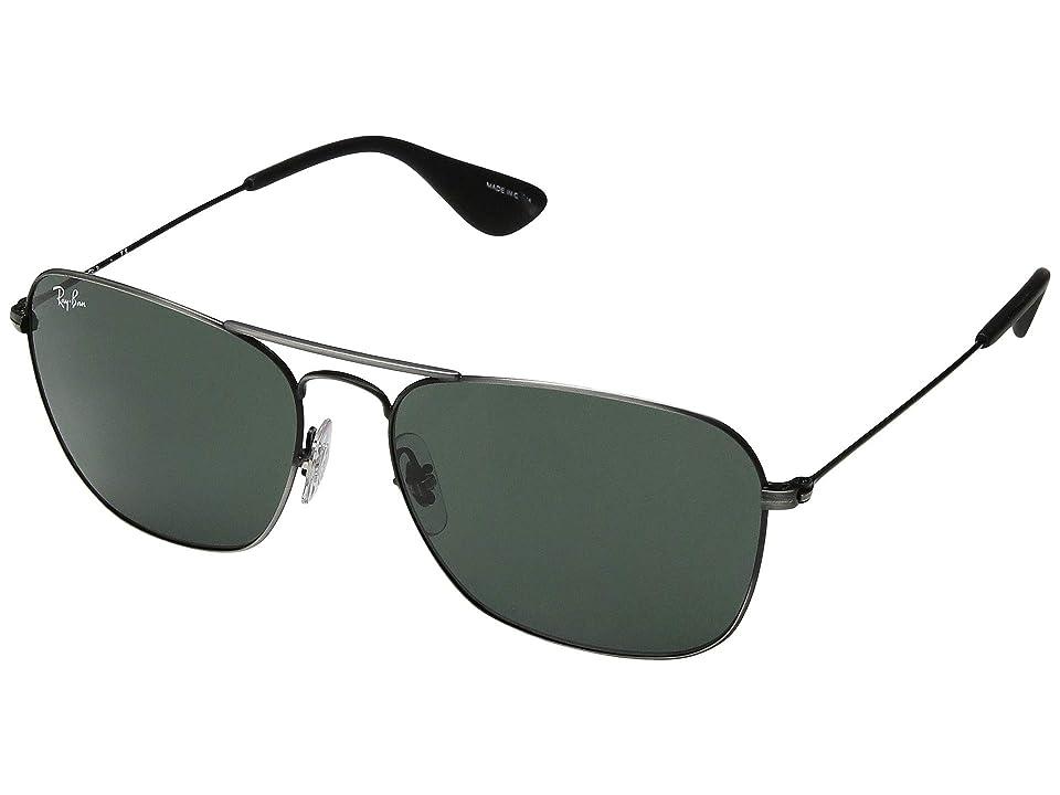 Ray-Ban RB3610 58 mm. (Matte Black Antique/Brown Gradient Dark Brown) Fashion Sunglasses