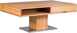 Marque Amazon -Alkove Hayes - Table basse à tiroirs, 110x70x44cm, C-ur de hêtre