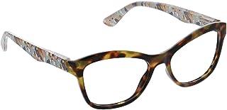 Peepers by PeeperSpecs Women's Brushwork Focus Cat-Eye Blue Light Filtering Reading Glasses