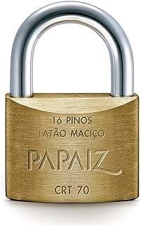 Cadeado com Tetra Chave 70mm em Latão CRT70 Papaiz