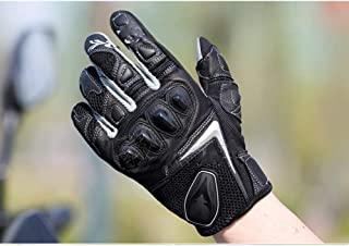 Motocross Gloves, Anti-Fall Breathable Riding, Racing Motorcycle Gloves, Men's Knight Equipment,Black,S