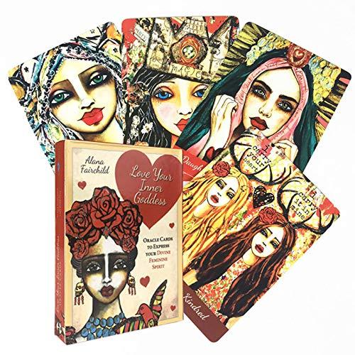 BSWL 44 Tarjetas/Amor tu Diosa Interior Oracle Tarjeta, predice el Futuro Destino, Juego Informal Solitaire Inglés Divination Catalo Card