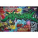 GREAT ART® XXL Poster Kinderzimmer – Graffiti – Wand