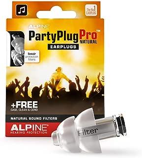Alpine PartyPlug Pro Ear Plugs for Loud Music Environments, Natural (PARTYPLUG-PRO-NAT)