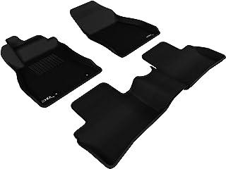 3D MAXpider-L1NS06401509 Complete Set Custom Fit All-Weather Floor Mat for Select Nissan Juke Models - Kagu Rubber (Black)
