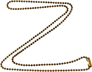 DragonWeave 1.8mm Fine Antique Brass Ball Chain Necklace with Extra Durable Color Protect Finish