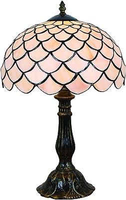 12 pouces européenne style simple vitrail blanc couleur chaude série lampe de table lampe de bureau lampe de chevet