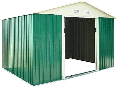 TecTake Cobertizo caseta de jardín metálica de Metal Invernadero almacén | + fundación Modelos (Tipo 3 | Gris | no. 402568): Amazon.es: Jardín