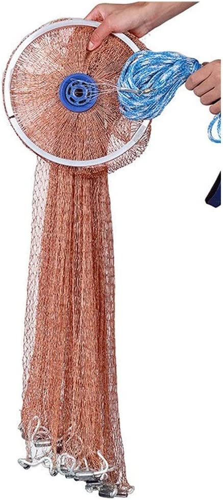 Aluminum Disc Fish Net Saltwater Fishing Heavy 2021 spring Animer and price revision and summer new Nets with Cast Du