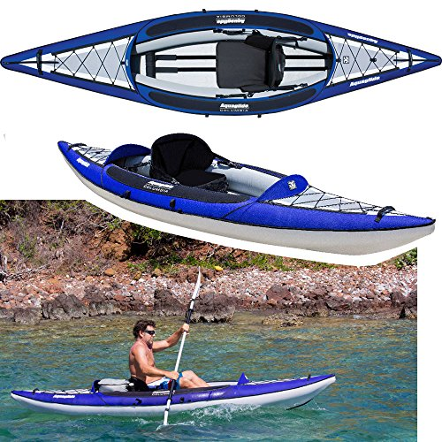 Aquaglide Canotto Gonfiabile Kayak Columbia One XP Canoa, 345 cm x 91 cm L B Aria Boot 1 Person