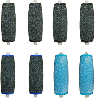 4 Pack Extra Coarse & 4 Pack Regular Coarse Replacement Roller Refills for Amope Pedi Refills Perfect Electronic Foot Files Callus Remover
