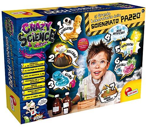 Lisciani Giochi - Crazy Science Il Grande Laboratorio dello Scienziato Pazzo Gioco per Bambini, 77502