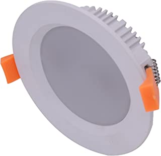 6pcs Recessed Bathroom 13W Concave Frame LED Downlight Kit Dimmable 90mm Cutout Warm White 3000K 950lm Ceiling Down Light