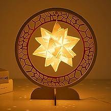 Verlichting Papier Sculptuur Lamp DIY Materiaal/Origami Creatieve Nightlights/Cultureel en Creatief Gift Jsmhh (Negro : Be...
