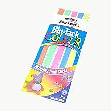 Bostik Blu-Tack Reusable Adhesive: 75g, 5 strips- orange, green, pink, blue & yellow / Assorted (Orange, Green, Pink, Blue & Yellow)