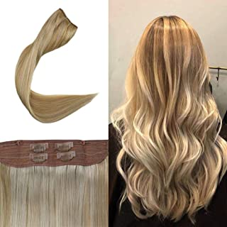 Full Shine Hidden Crown Halo Remy Human Hair Extensions 20
