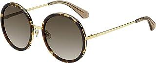 Kate Spade Women's Lamonica/s Round Sunglasses, Havana Gold, 54 mm Brown