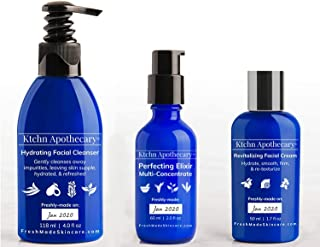 Premium Collection   Ktchn Apothecary Fresh-Made Skincare: Hydrating Facial Cleanser + Revitalizing Facial Cream + Perfecting Elixir Facial Serum   ($130 Value)