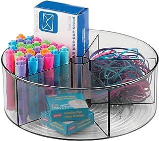 mDesign système de rangement pour le bureau — organiseur bureau pratique avec 5 compartiments — porte-crayon rotatif pour ...